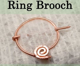 Make a Medieval Ring Brooch - Without a Torch!