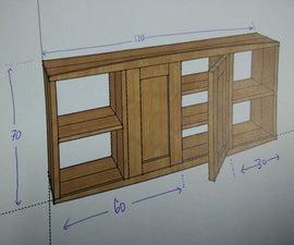 (2x4) Bathroom Wall Cabinet / Medicine Cupboard