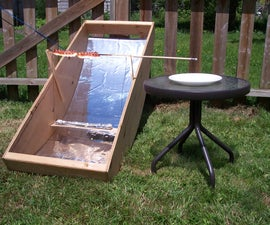 Build a solar hot dog cooker