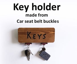 SEAT BELT BUCKLE KEY HOLDER