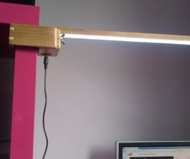 Orientable Wood Led Lamp With Clamp