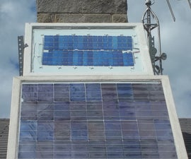 Building a solar panel, 2 glass panes style.