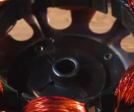 Squirrel cage INDUCTION MOTOR DIY hack Alternator