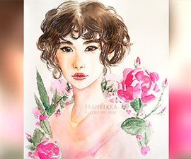 Flower Girl - Watercolor Painting Process