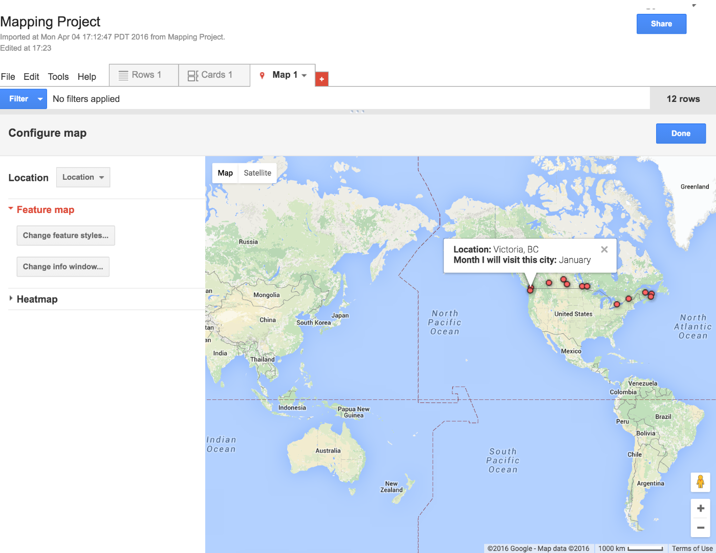 Picture of Add a Map to Your Google Fusion Table