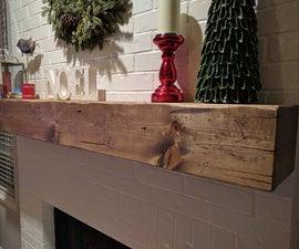 Wood Beam Fireplace Mantel