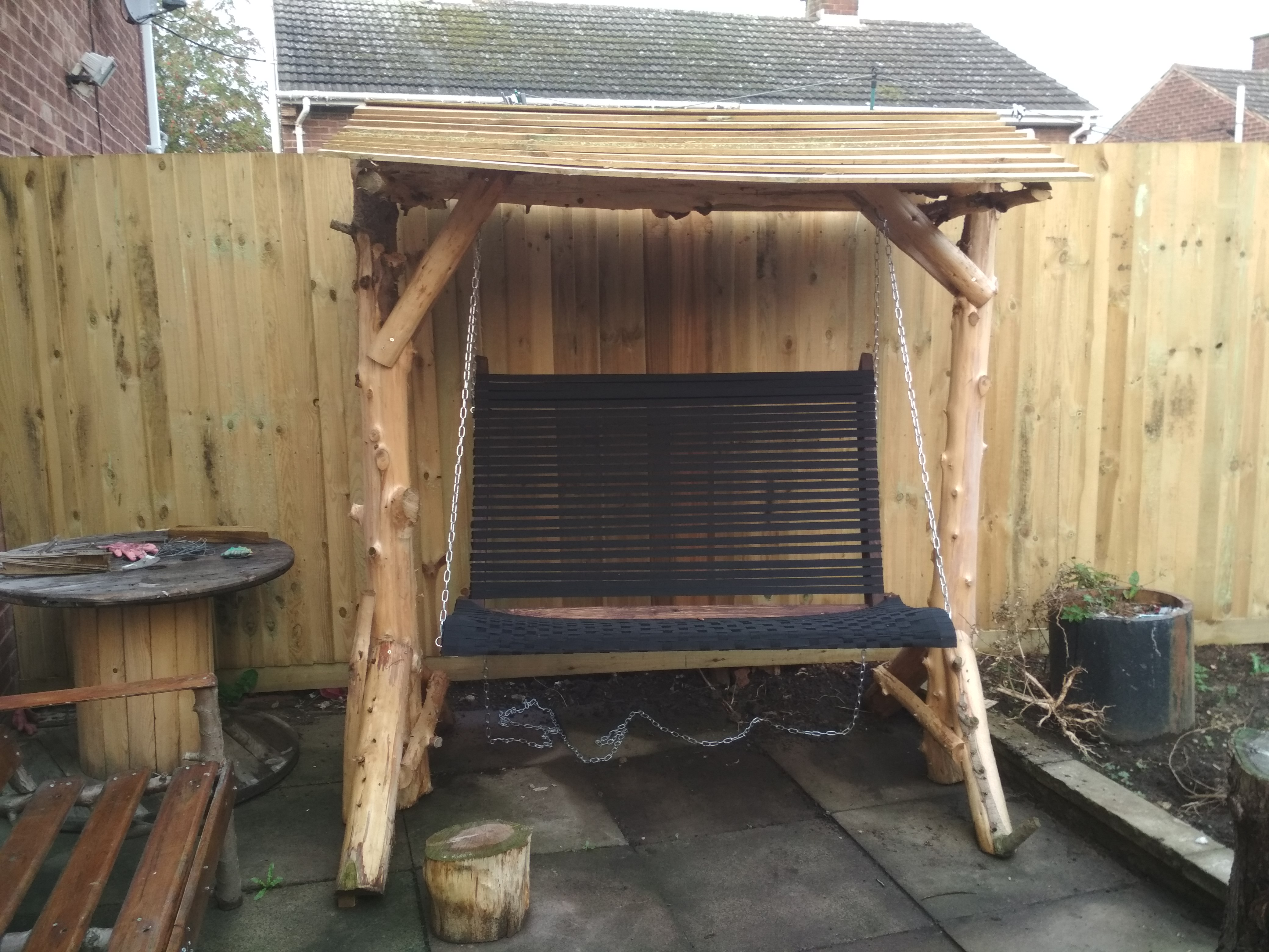 Picture of Rustic Wooden Swing Chair
