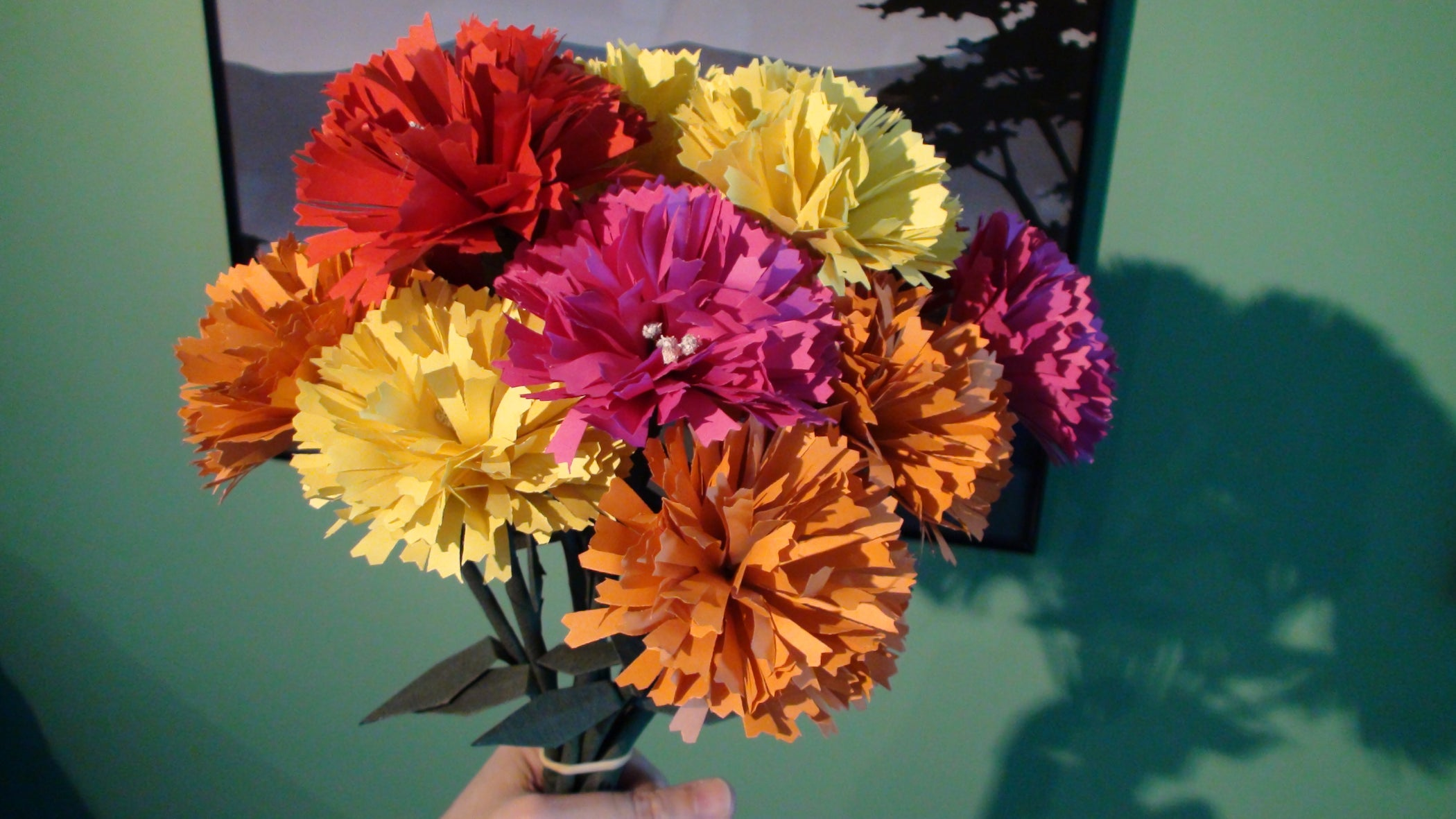 Origami Carnations For Mom