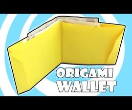 Paper Origami Wallet Instructions