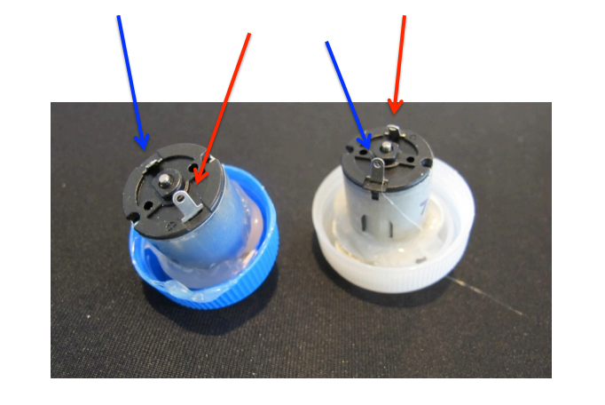 Picture of Solder Leads to the Dc Motors If There Are None