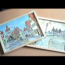 Simple Framed Watercolour Paintings