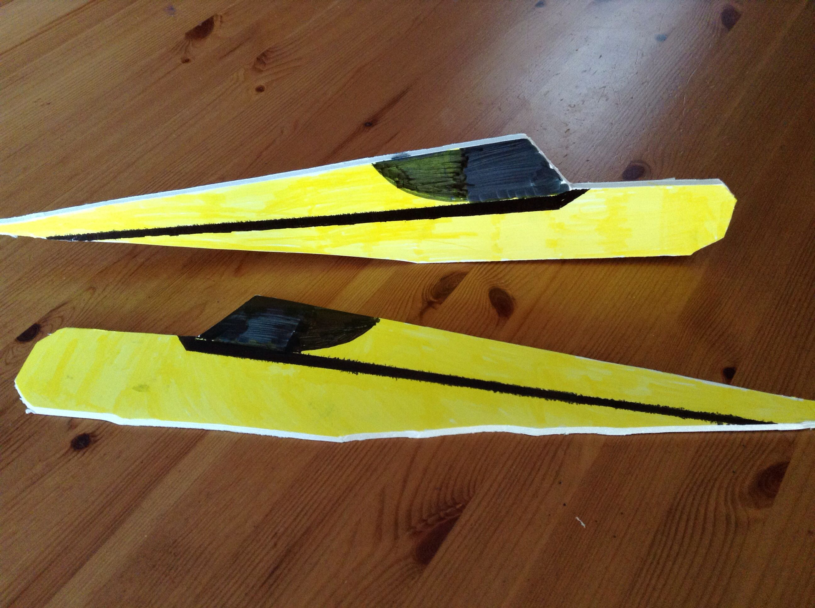 Picture of Cut Out and Color the Fuselage Pieces.