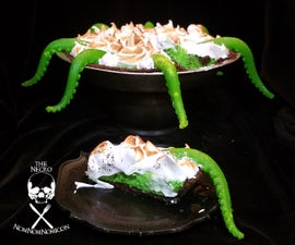 Black Light Reactive Key (S)lime Pie With Tentacles!