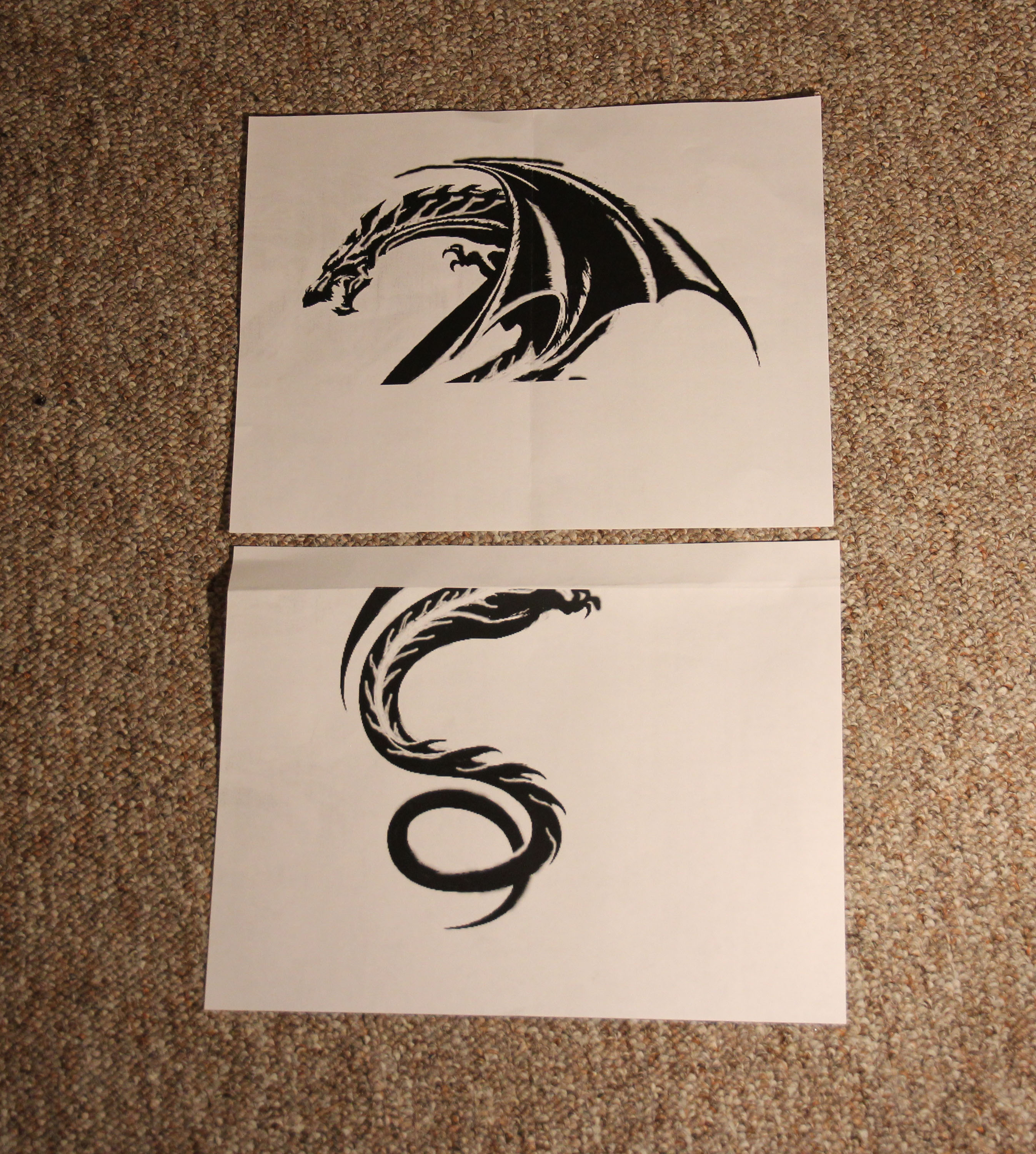Picture of Tattoos - Tracing the Image and Cutting Out the Stencil
