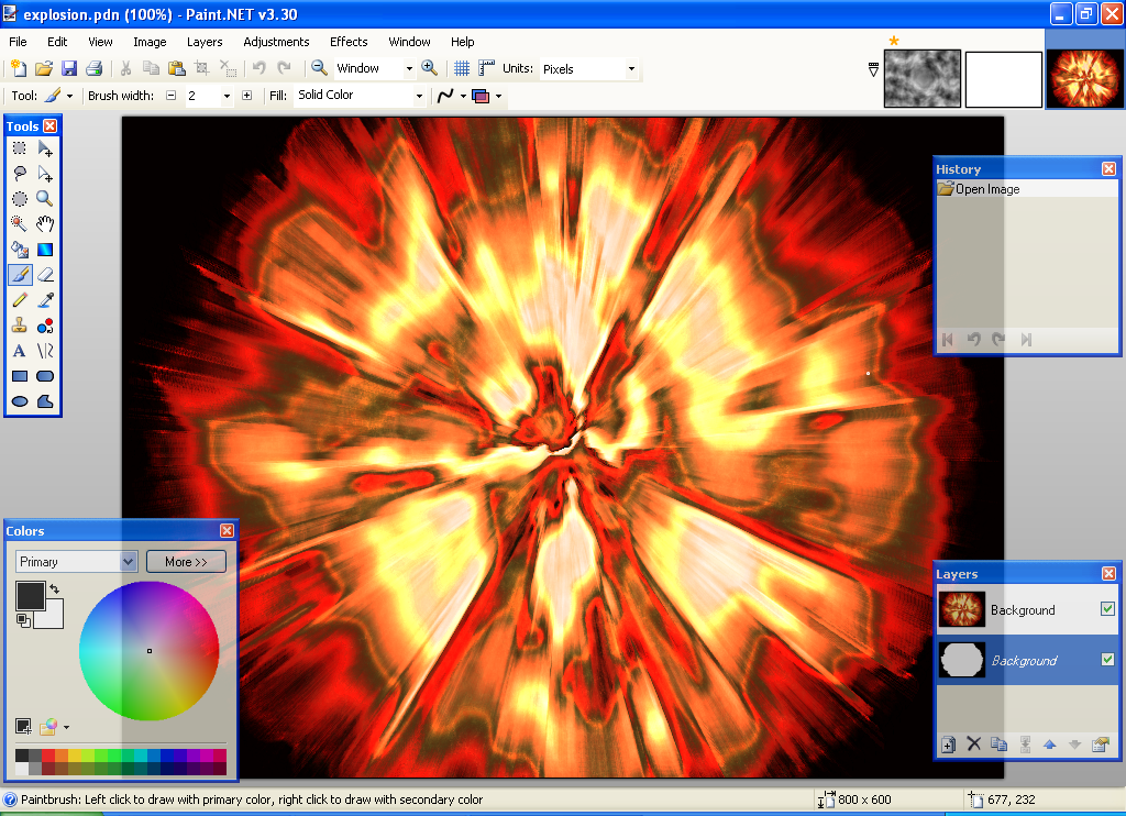 Picture of How to Make a Cool Explosion on Paint.NET