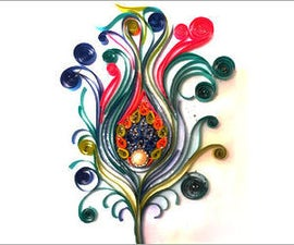 DIY Room Decor With Quilling Art: Feather Wall Frame.