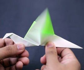 How to Make a Paper Flapping Bird (Easy Origami)!