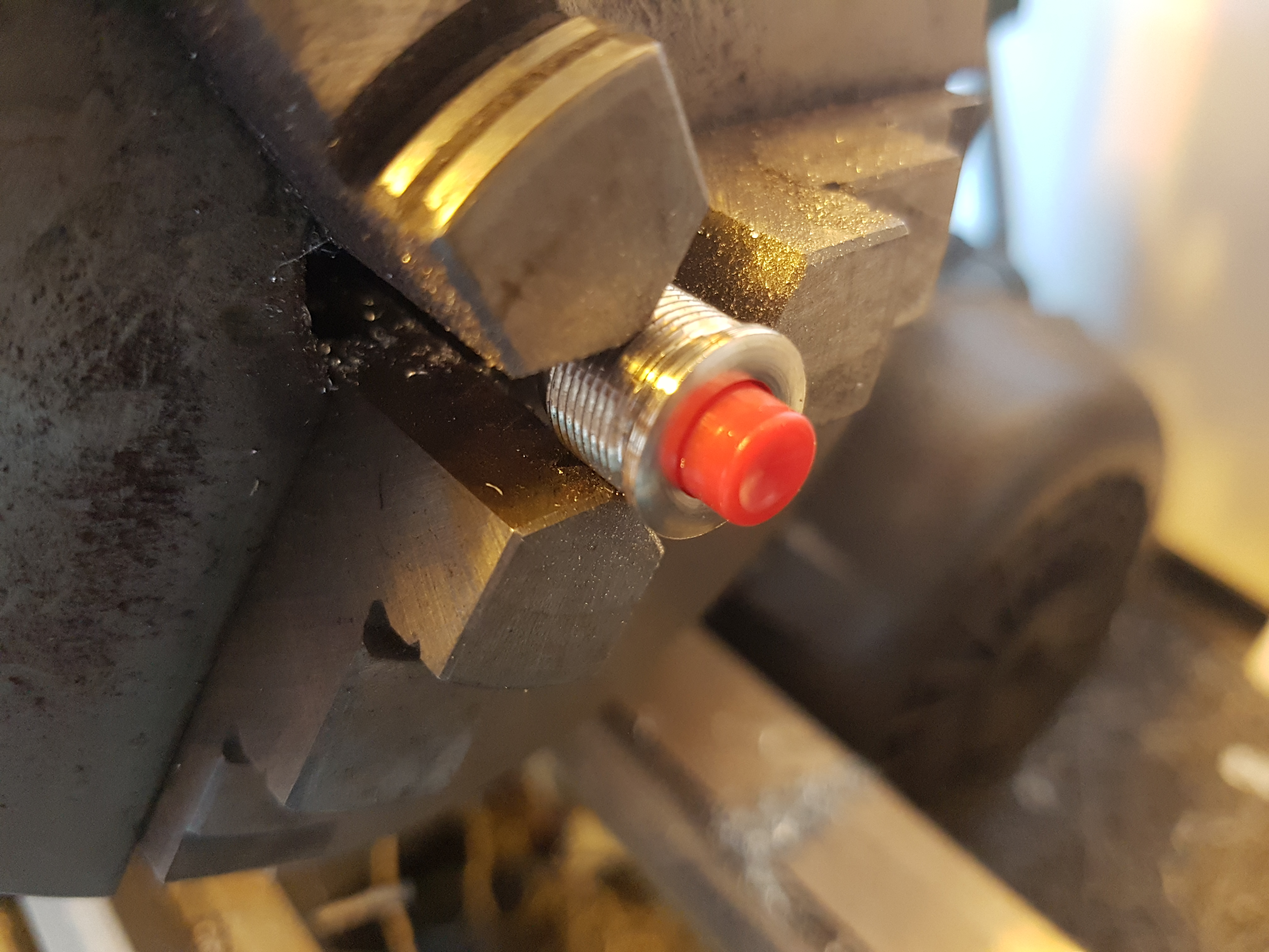 Picture of Machining the Lock (and Button) to Fit