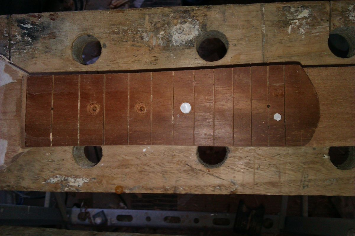 Picture of Make Fret Marker Dots and Add Them and Smooth That Fretboard