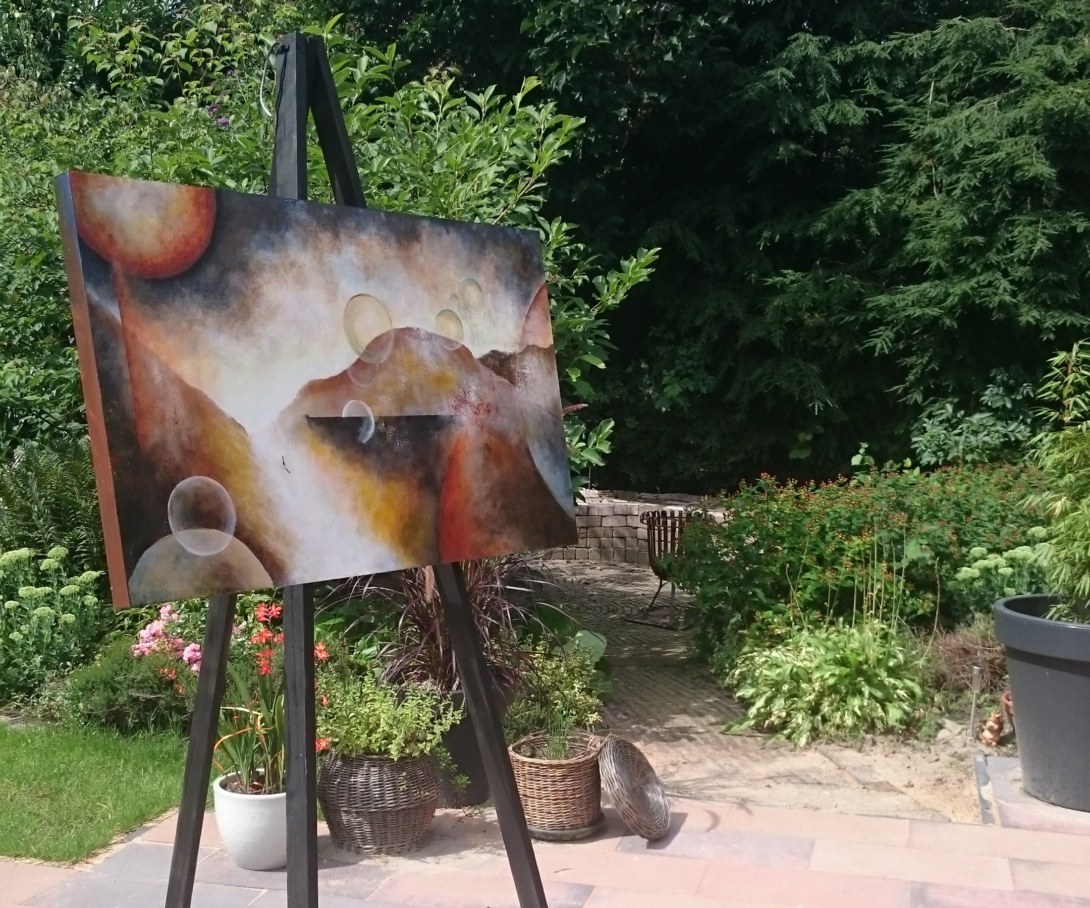 Easy Diy And Portable Painting Easel 5 Steps With Pictures