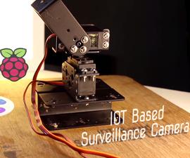 IOT Based Surveillance Camera || Raspberry Pi + Pan-Tilt Arrangement + Cayenne + Webcam Server