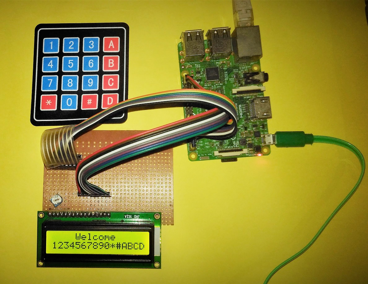 Picture of Interface 16x2 Alphanumeric LCD And4x4 Matrix Keypad With Raspberry Pi3