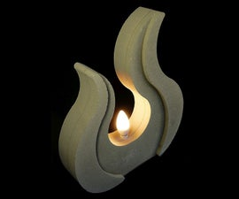 Casting a concrete lamp sculpture with a CNC milled styrofoam mold