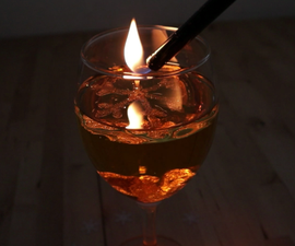 DIY - the Floating-Snowflake-Light - Oil Lamp