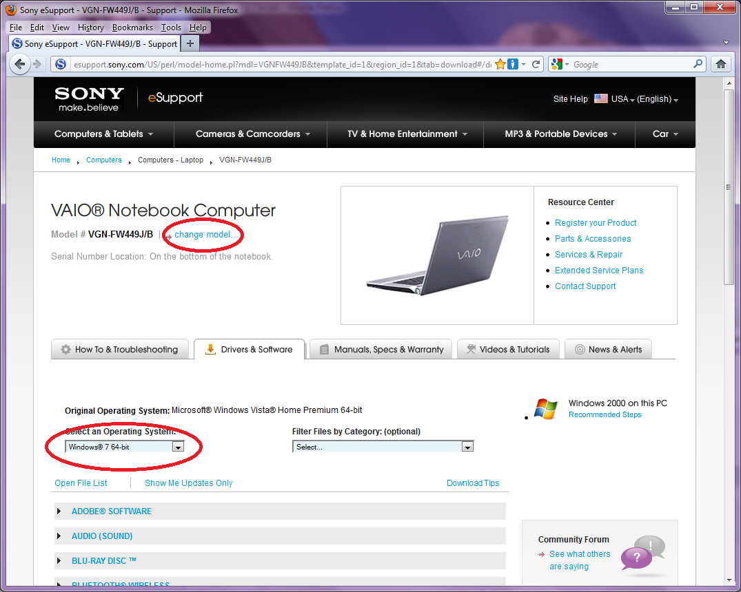Picture of Locate Factory Software for Your Sony Vaio Model