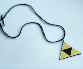 How to make a triforce Legend of Zelda necklace