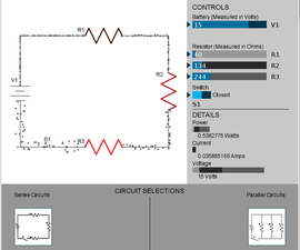 Visualizing Current Flow through a Resistor Circuit