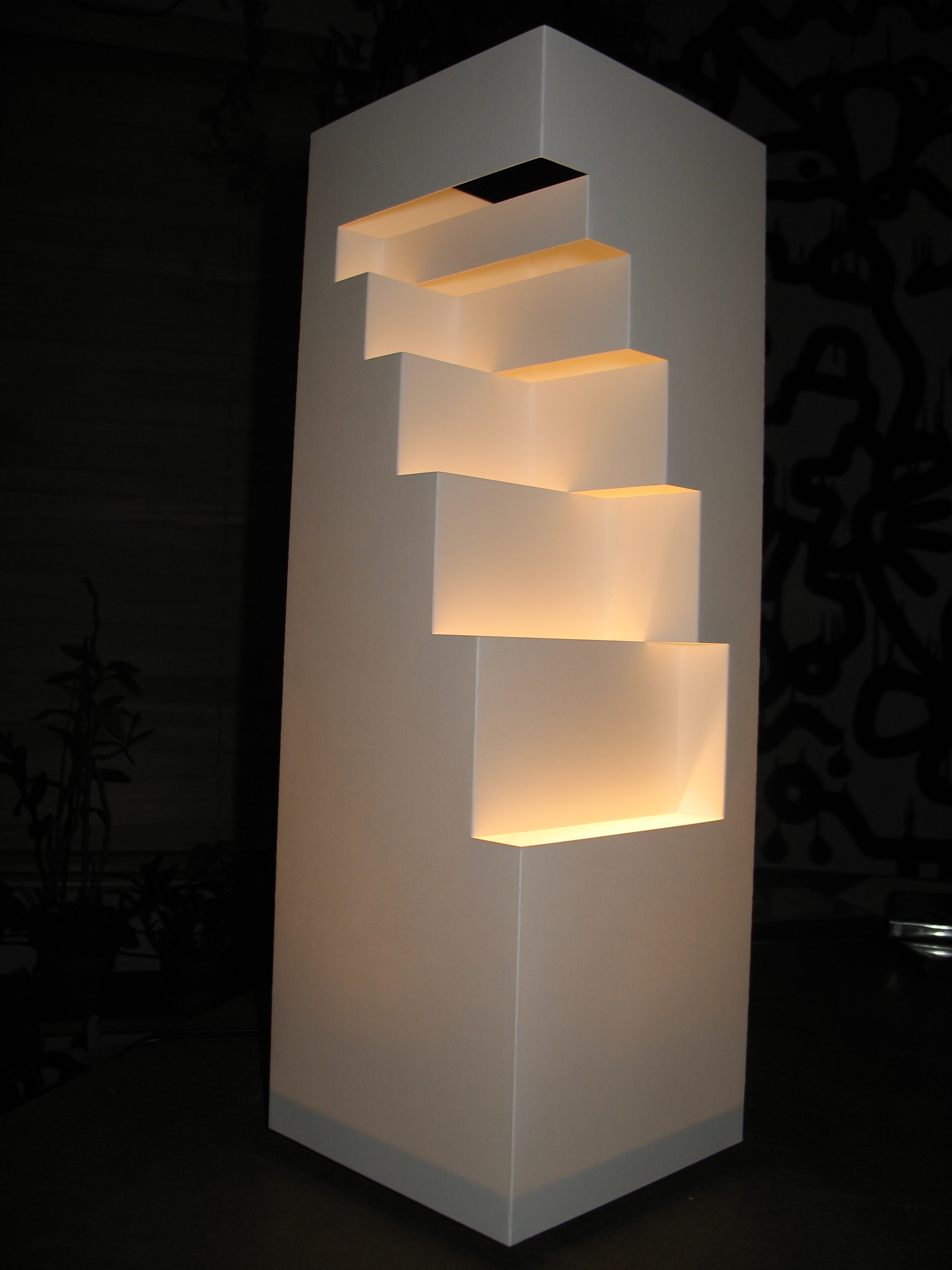 Picture of Geometric Cut Paper Table Lamp