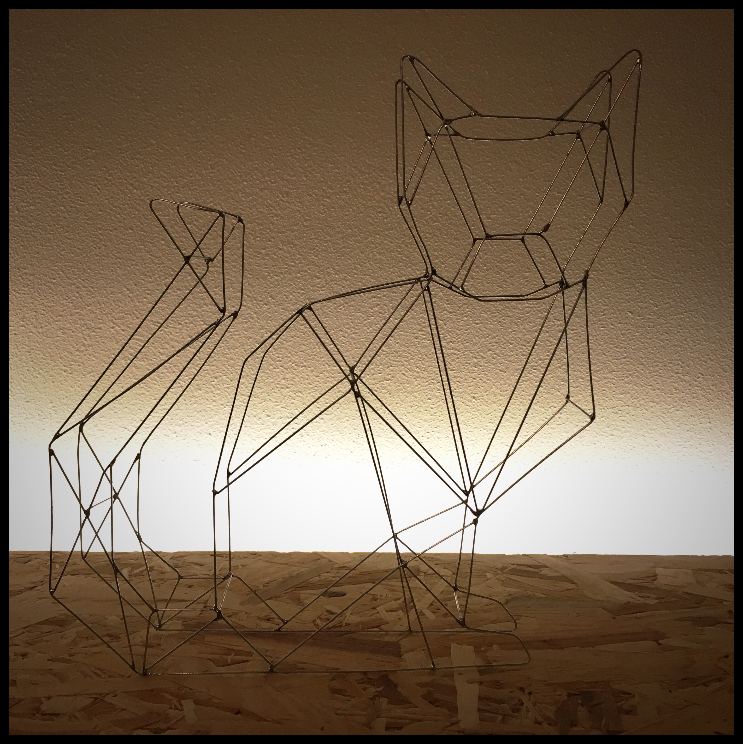 Picture of Wire Art Cat or Solder a Wire Frame Animal
