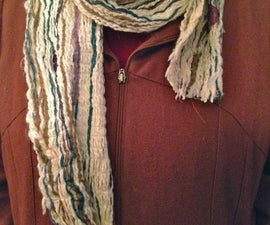 Stitched Yarn Multi-Color Winter Scarf