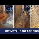 DIY METAL STORAGE BINS