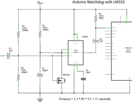 LM555 Watchdog for Arduino!