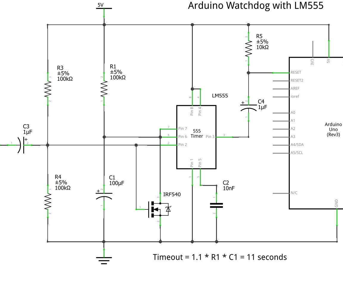 Lm555 Watchdog For Arduino 4 Steps Timer Circuit Using 555