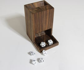 One-Piece Dice Tower for Tabletop Gaming