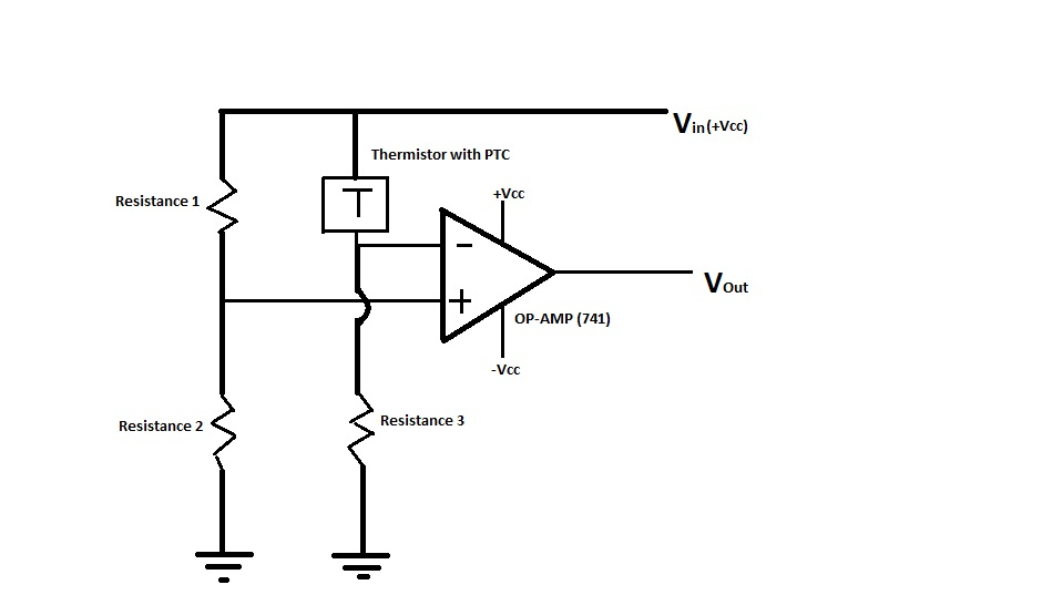 Picture of i am making a overheating detector for my desktop PC, Please tell if the circuit shown below is right.?