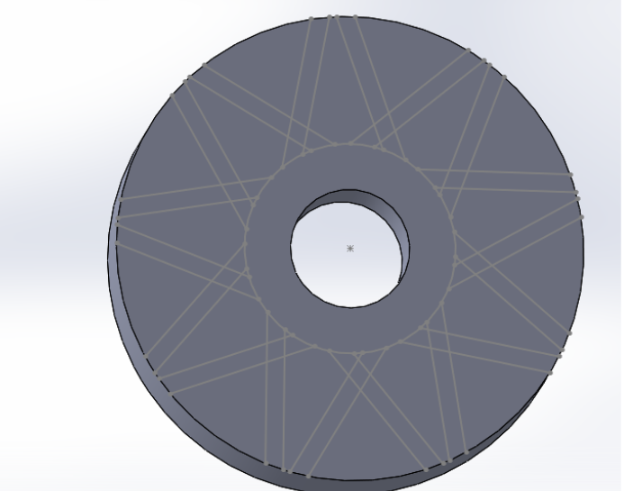 Picture of Create the Spoke Pattern on the Back of the Annular Gear