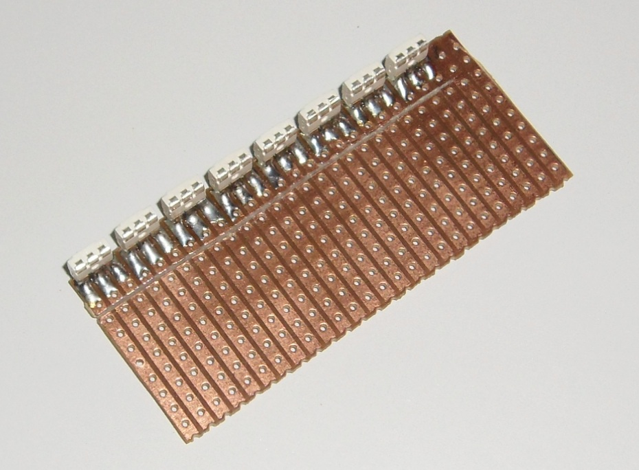 Picture of Solder in the LED's and Cut Some Tracks
