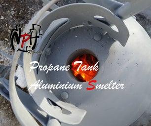 Propane Tank Aluminium Smelter (No Weld).