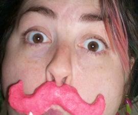 Edinburgh Rock Moustache Lollipops