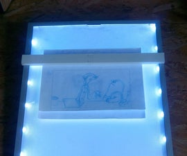 Portable LED Tracing Light box (upcycled from LCD TFT))