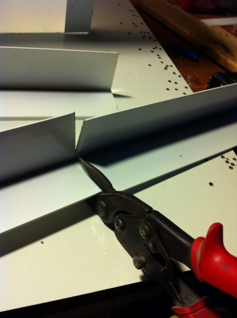 Picture of Cutting the Aluminum Angles