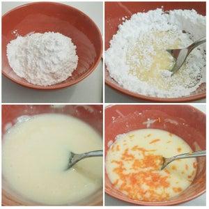 Making of Orange Icing