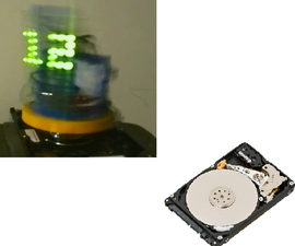 3D POV Clock from a HDD
