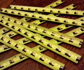 Transform a worn out tape measure into a plentiful supply of one foot rules.