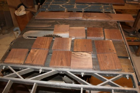 Replacing the Ceramic Tile With a Wooden Inital