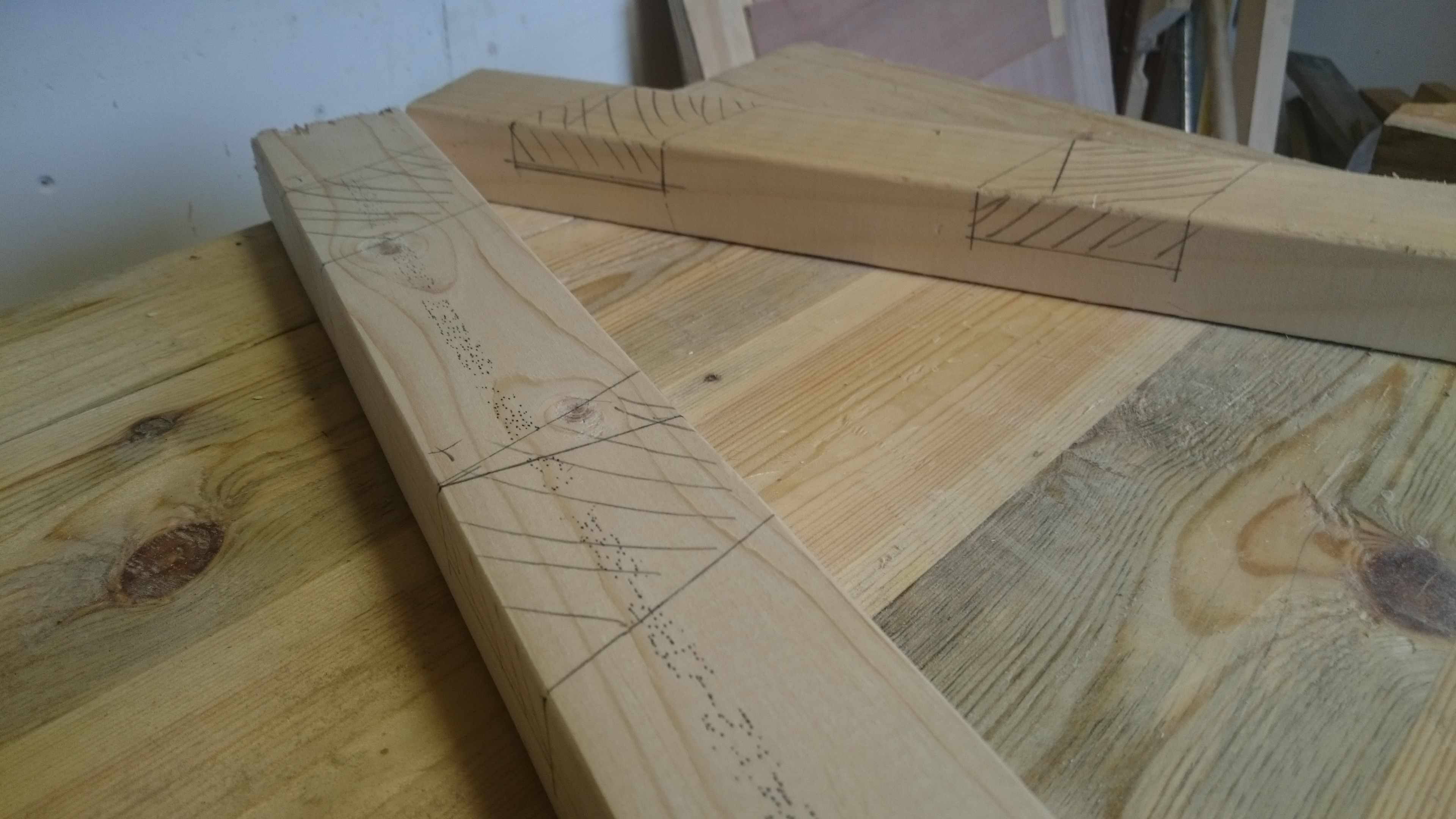 Picture of Measuring and Marking the Wood